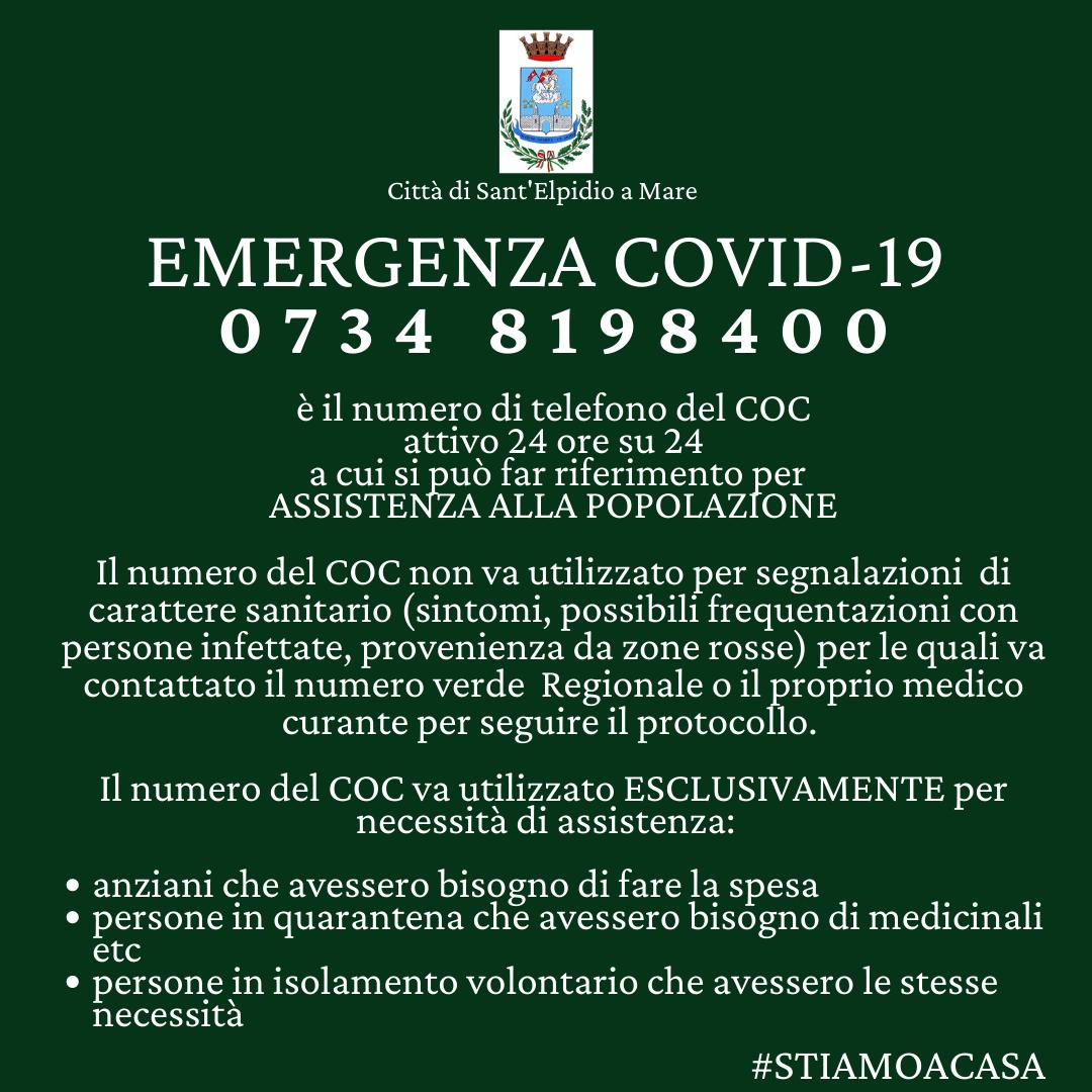 CORONAVIRUS - AGGIORNAMENTI - APERTURA COC