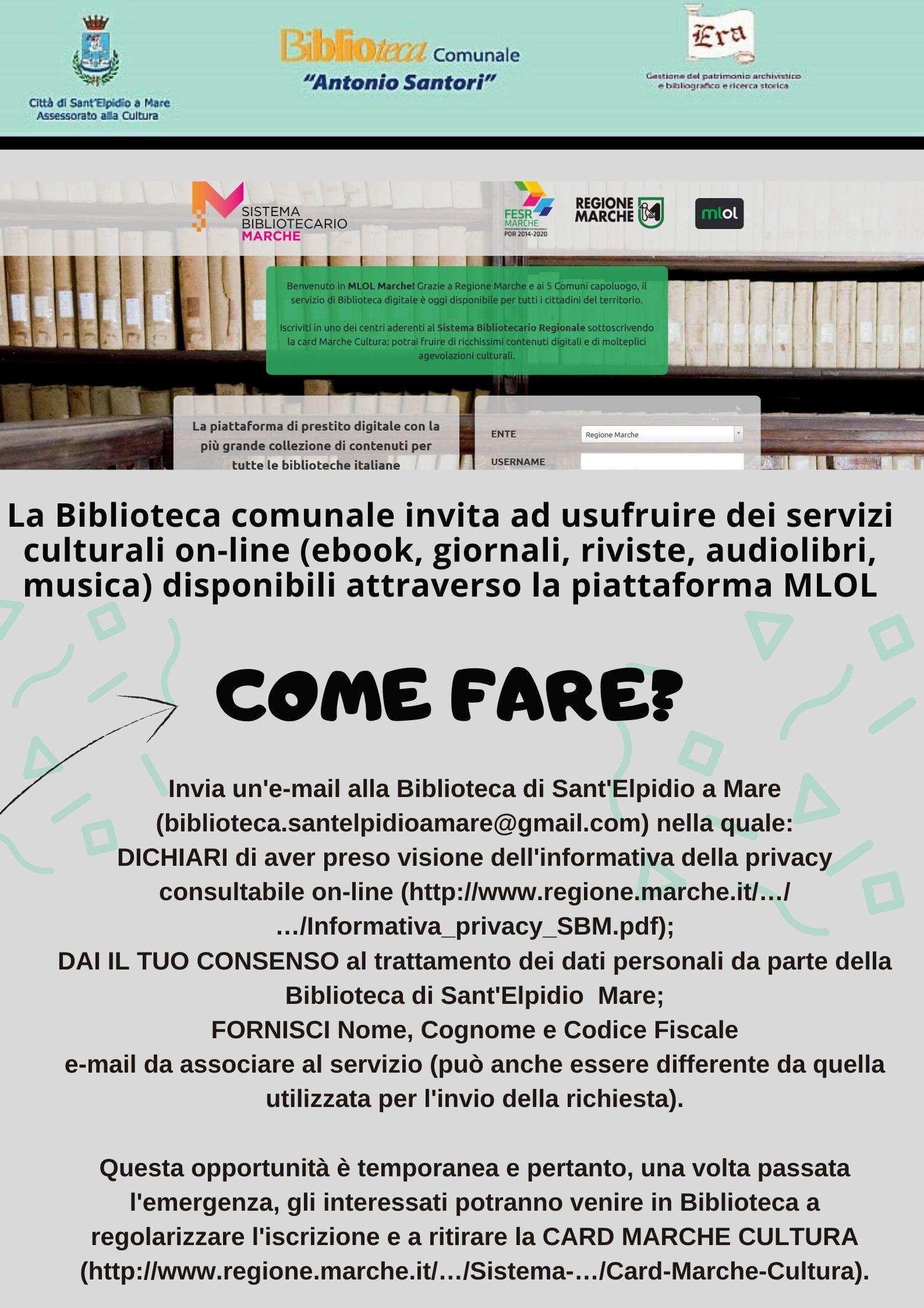 CORONAVIRUS - SERVIZI BIBLIOTECA