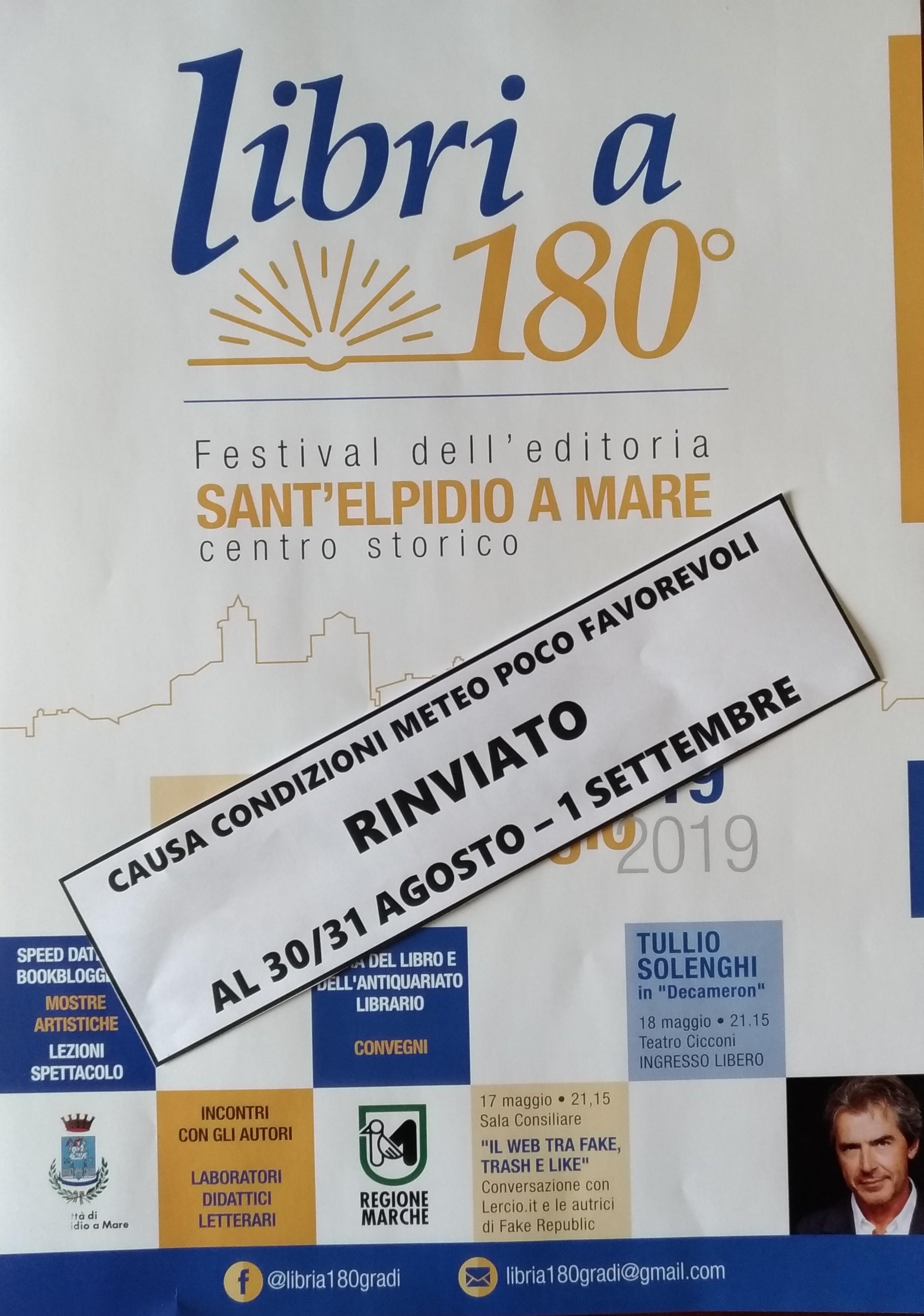 LIBRI A 180� - EVENTO RINVIATO