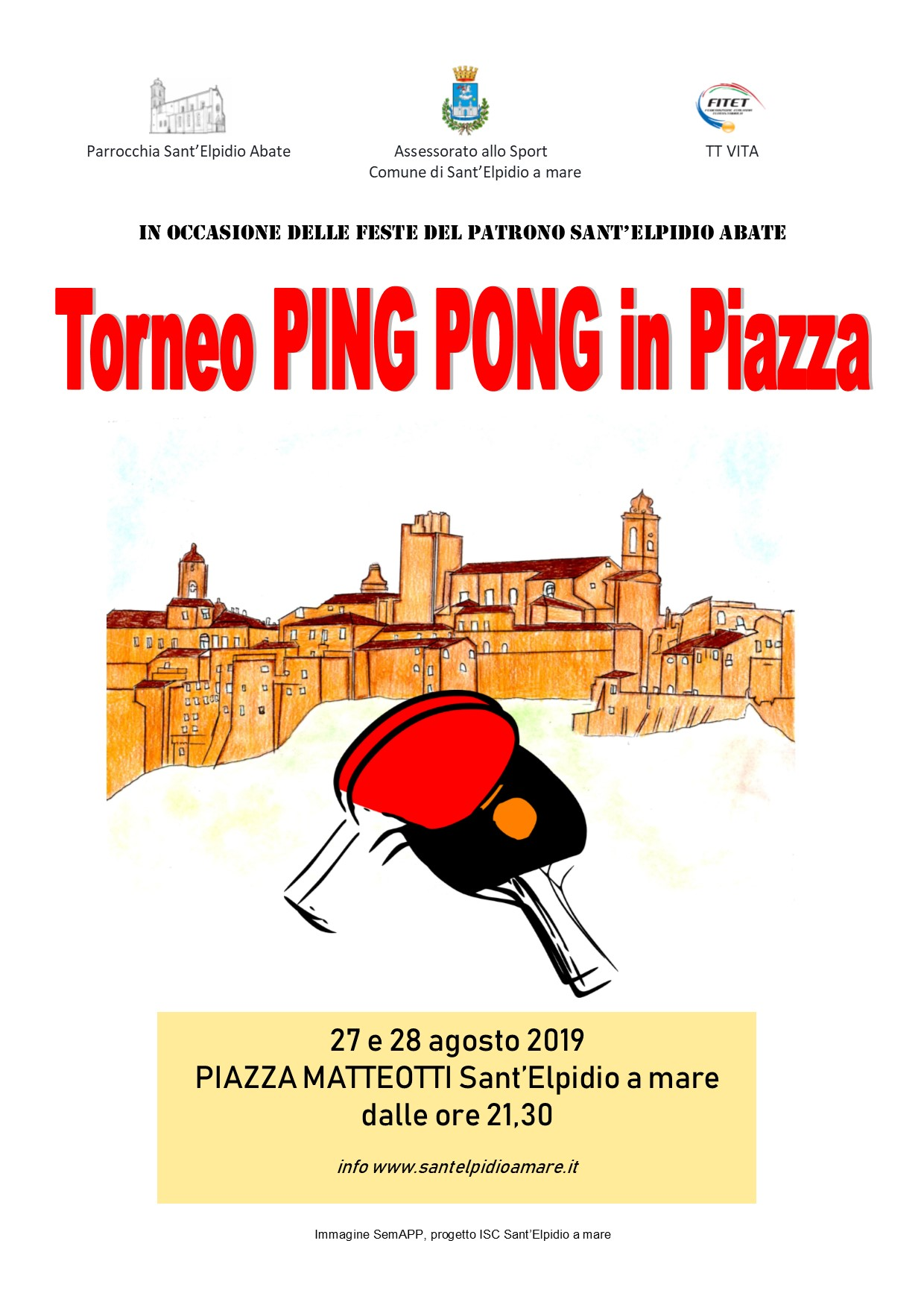 TORNEO DI PING PONG IN PIAZZA