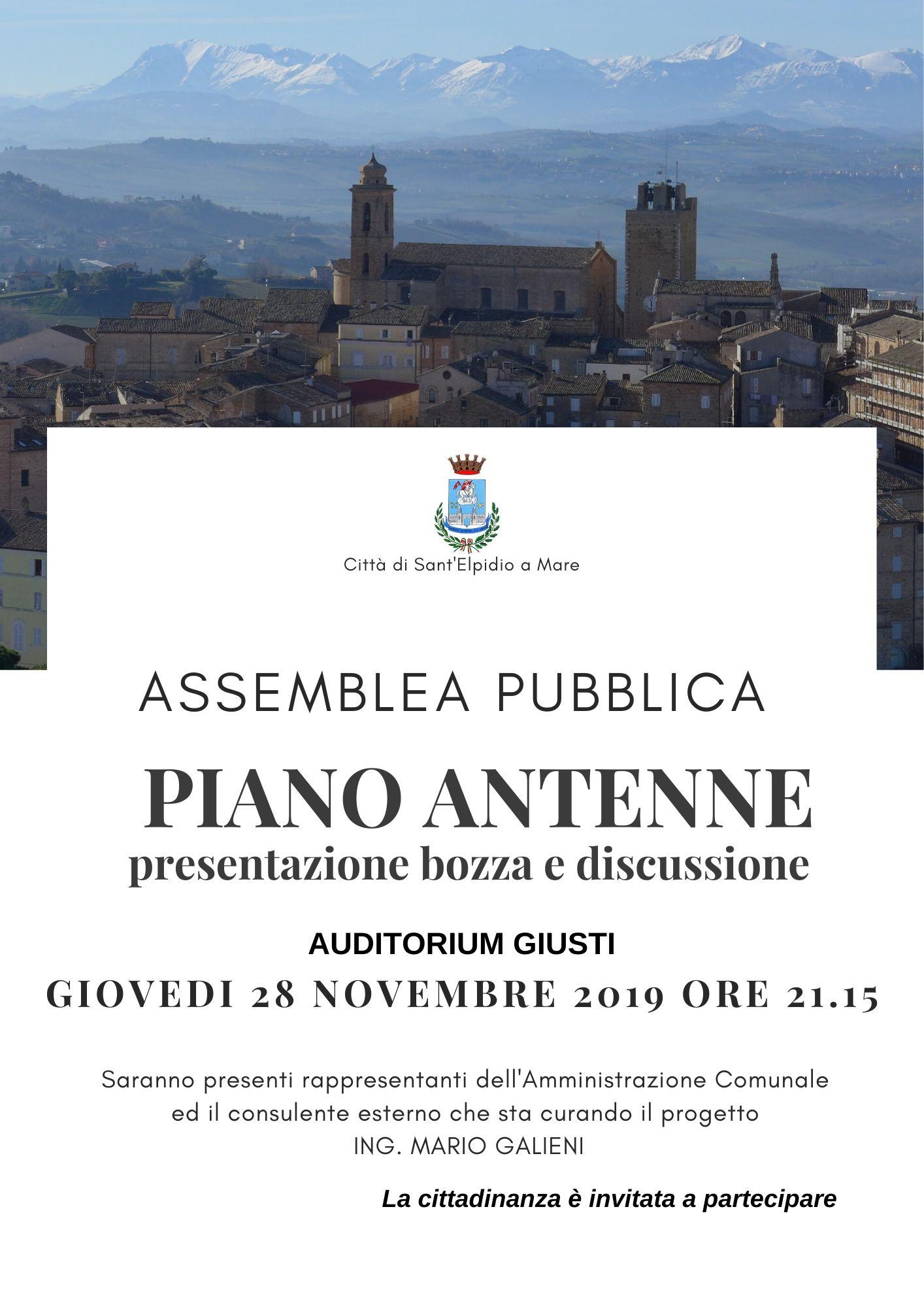 ASSEMBLEA PUBBLICA - PIANO ANTENNE